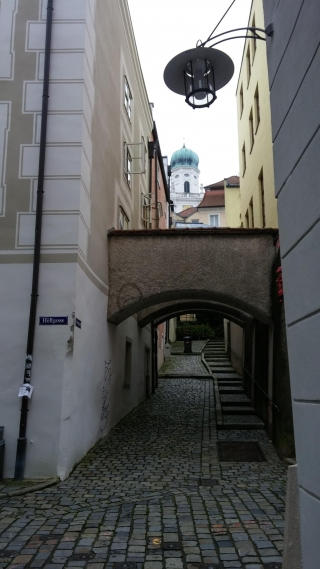 Photo of narrow road in Passau, Bavaria