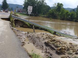 Highway 14 on the west side of Coon Valley