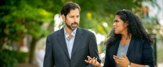Photo of On Point hosts Meghna Chakrabarti and David Folkenflik
