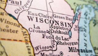 Wisconsin, map