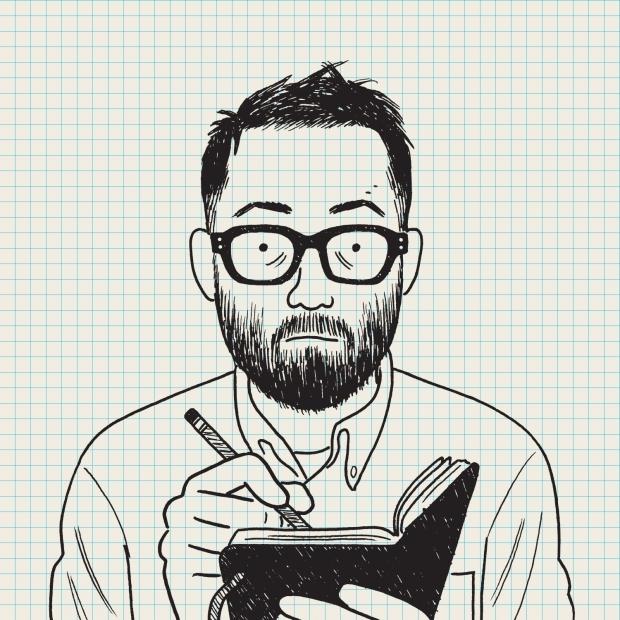 Adrian Tomine self-portrait