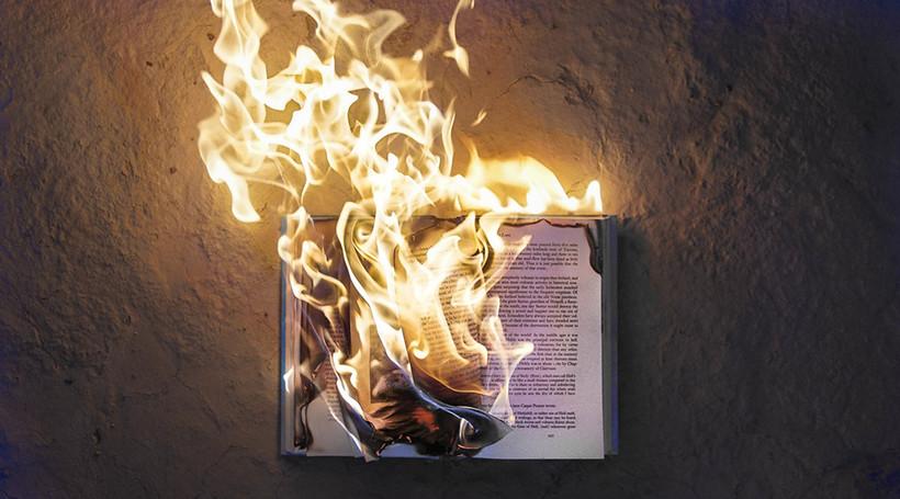 burning book