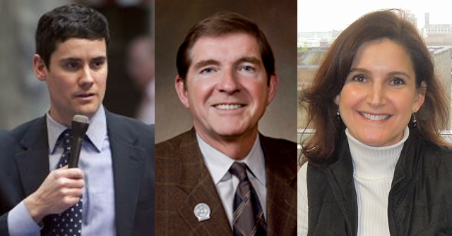 Portage County District Attorney Louis Molepske, State Representative Jim Ott, and Reporter Corrine Hess