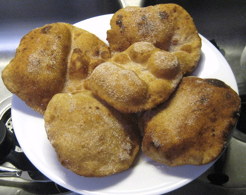 Plate of fry bread.