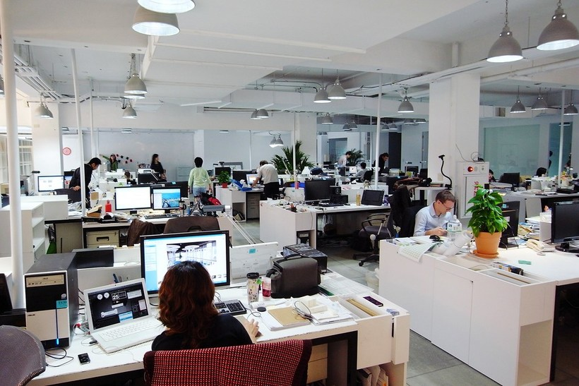 Workers in an office