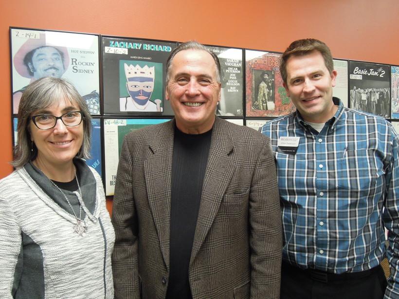 Sister Eileen McKenzie, Lee Rasch and Michael Swensen