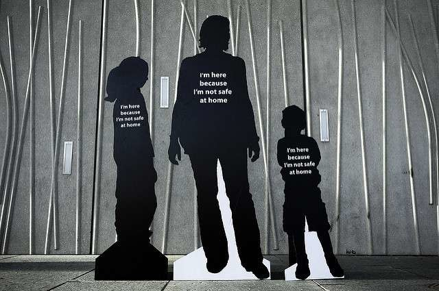 Cutouts of victims of domestic violence