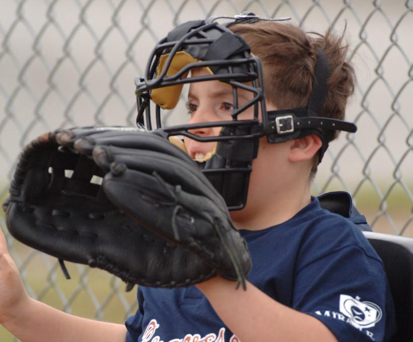 Miracle League catcher.