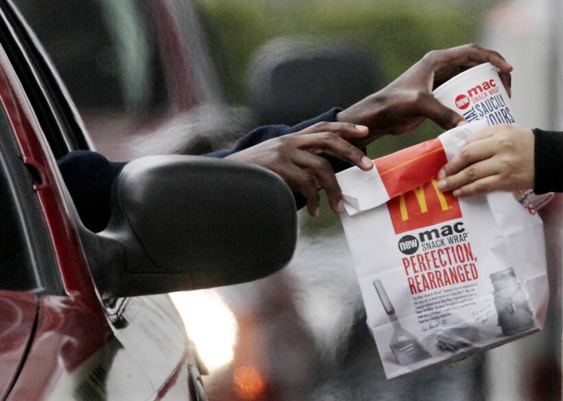 McDonalds, fast food, drive-thru, car, driver, cashier