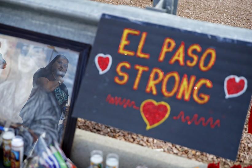 A makeshift memorial in El Paso, Texas