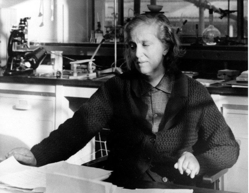Professor Dorothy Crowfoot Hodgkin, winner of the 1964 Nobel Prize for Chemistry, is photographed in her laboratory at the Department of Chemical Crystallography at University of Oxford in Oxford, England.