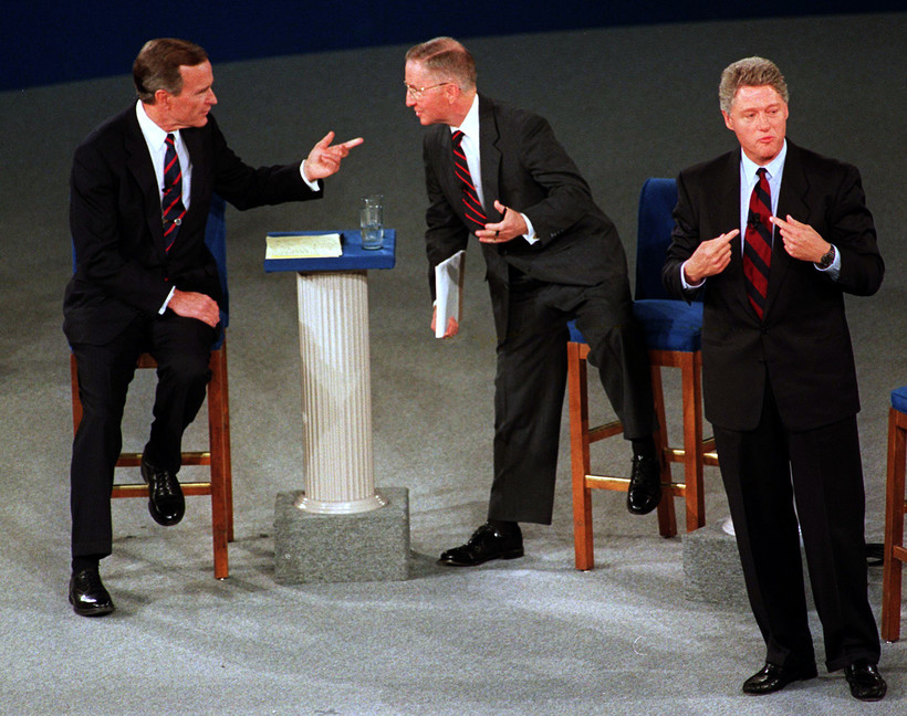 George Bush, Ross Perot and Bill Clinton debate