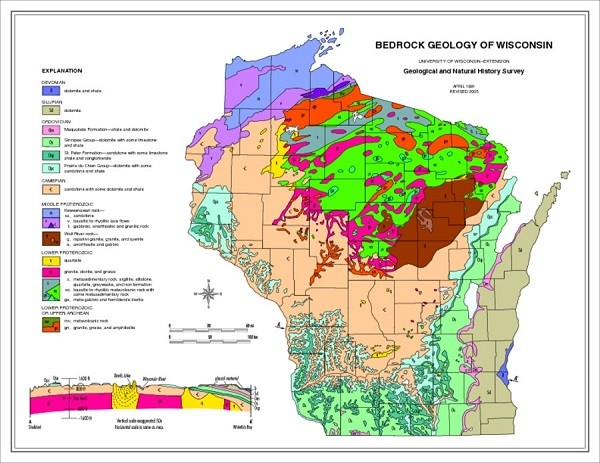 Take Your Own Tour Through Geological Wonders Of Wisconsin ... Oldest Rocks In Us Maps on oldest south american pyramid, oldest rocks in colorado, oldest rocks on earth,