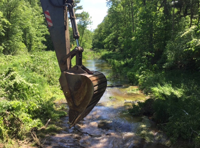 Portage County Drainage District dredged Isherwood Lateral.