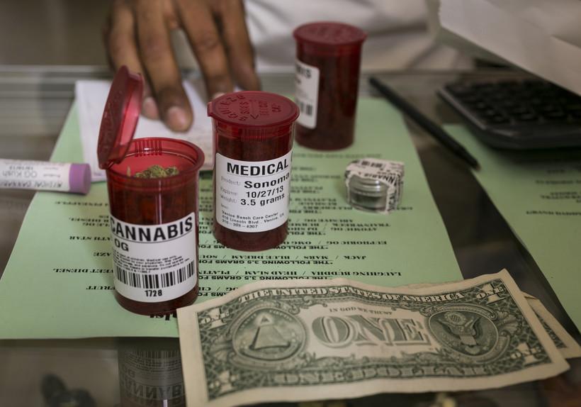 Medical marijuana prescription vials