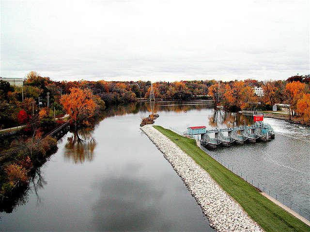College Avenue bridge, Appleton, Wisconsin