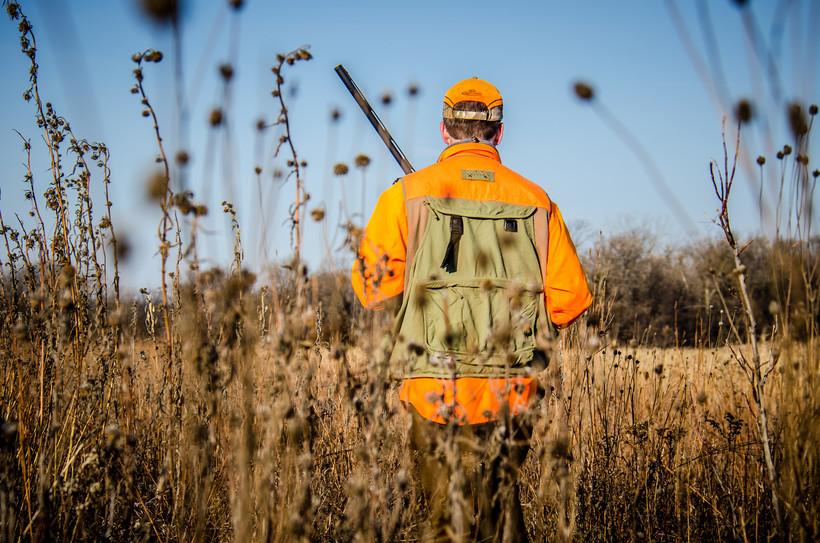 hunter in field