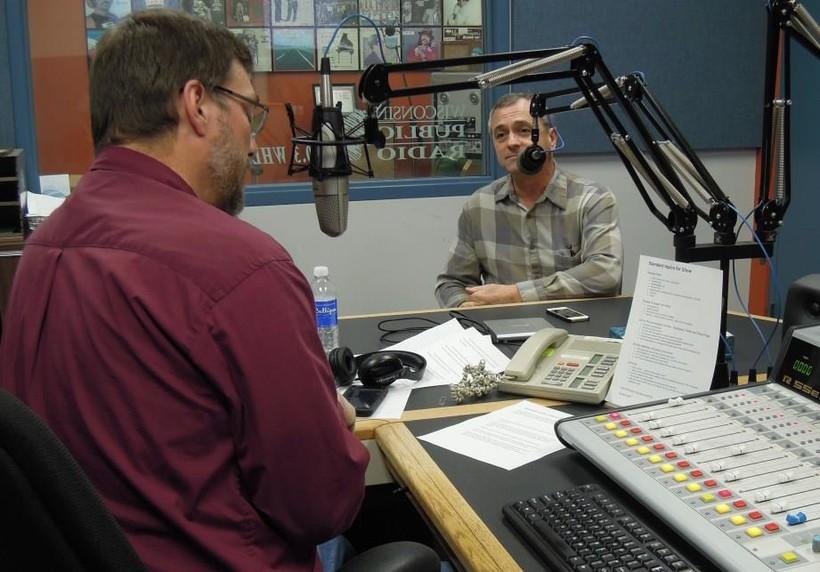 "Dan Robinson interviewing David Schipper for WPR's ""Simply Folk"""