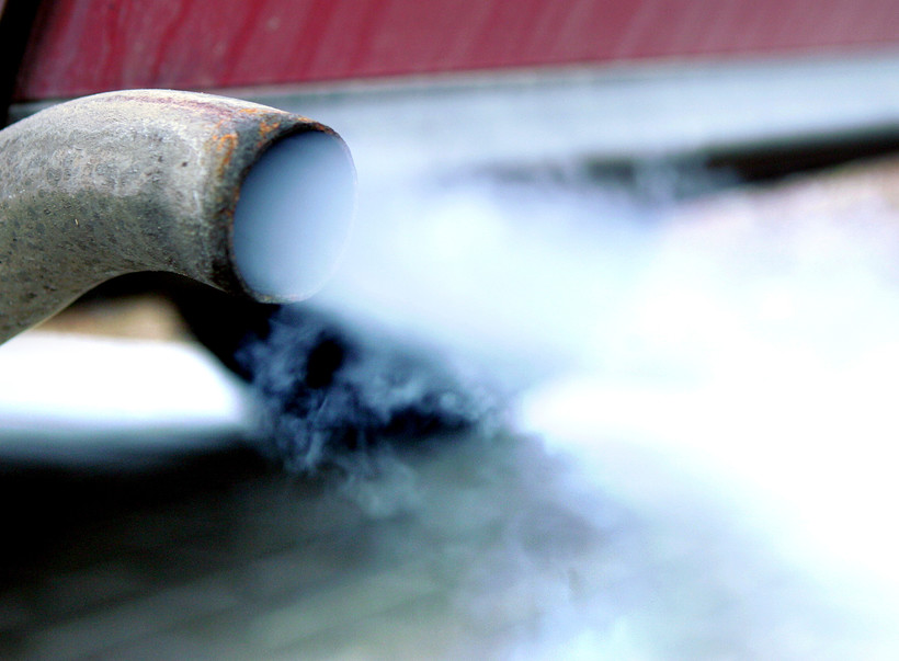 car exhaust winter