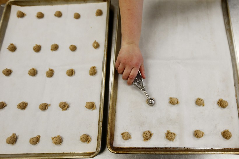 Martha Rabello making cookies