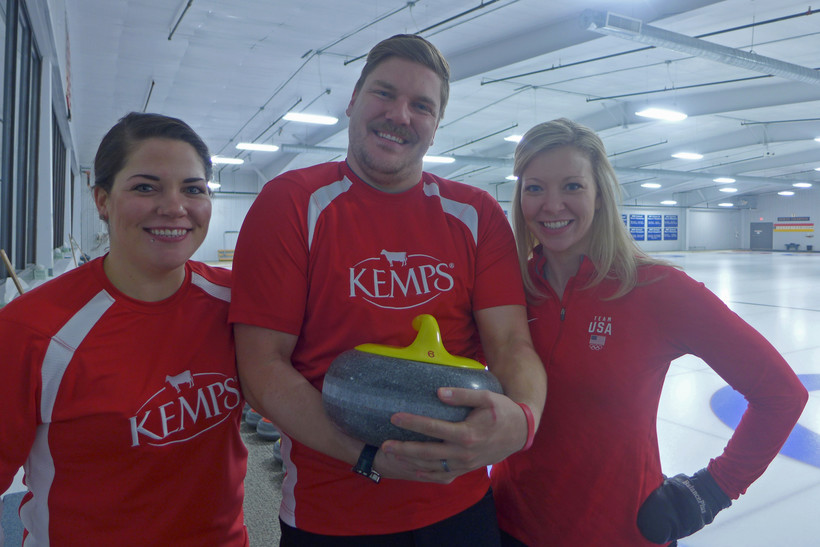Team USA Olympians Becca Hamilton, Matt Hamilton and Nina Roth