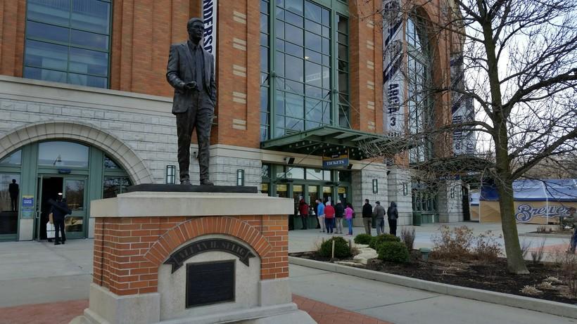 Statue of Bud Selig at Miller Park