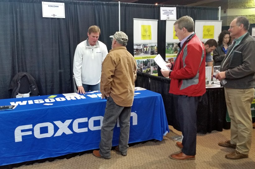 Potential employees at the Wisconn Valley Construction Resource Fair