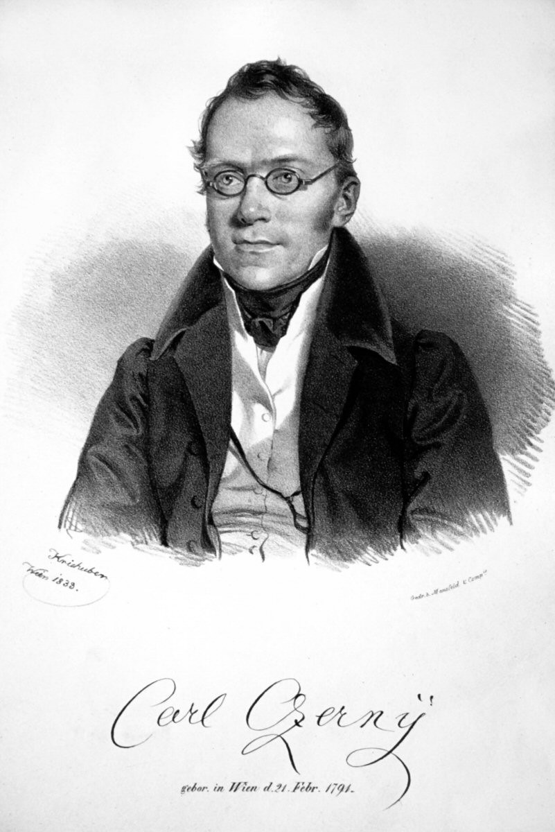Portrait of Pianist Carl Czerny