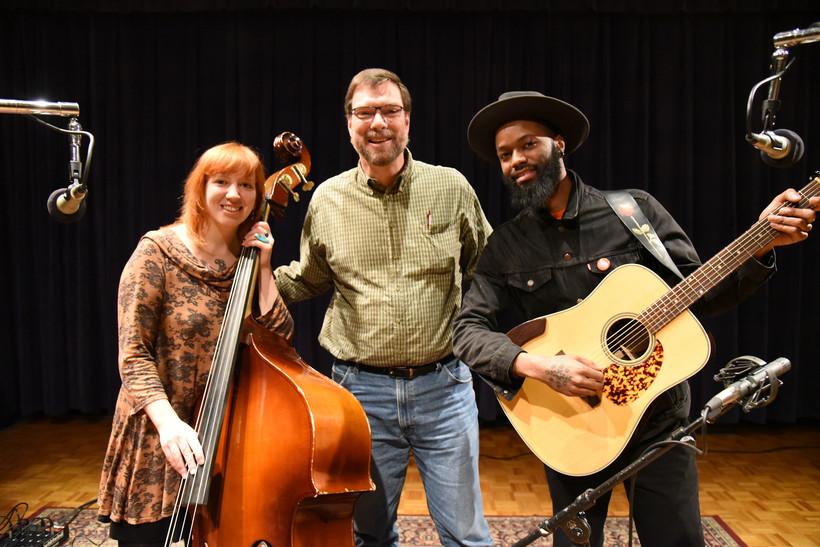 Johanna Rose and Carl Nichols of Nickel and Rose with Simply Folk host Dan Robinson
