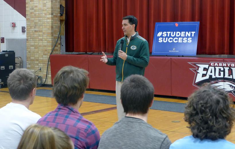 Gov. Scott Walkerspeaks during an event