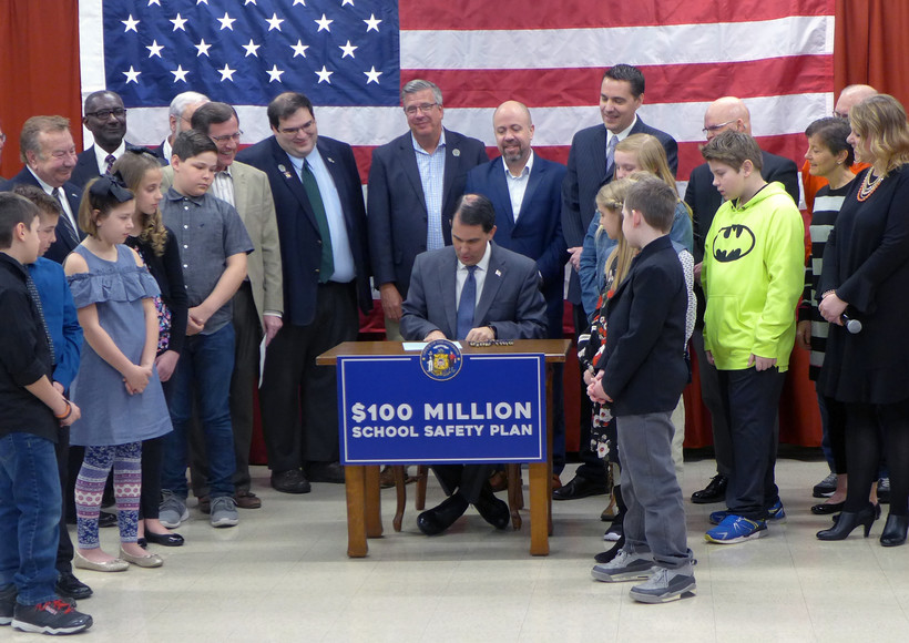 Walker signs school safety bill