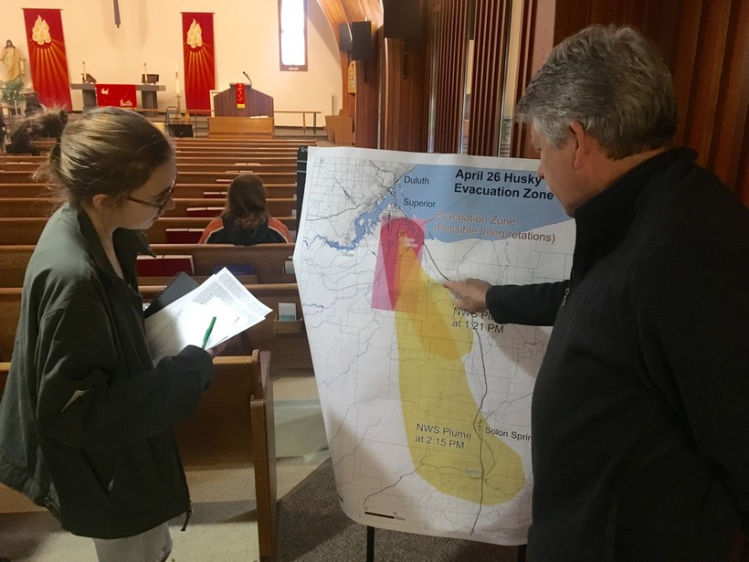 Community meeting at Zion Lutheran Church in Superior