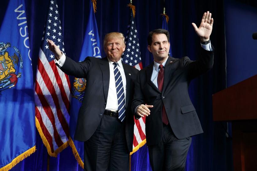 Donald Trump and Scott Walker