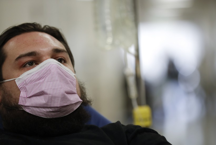 Man with flu