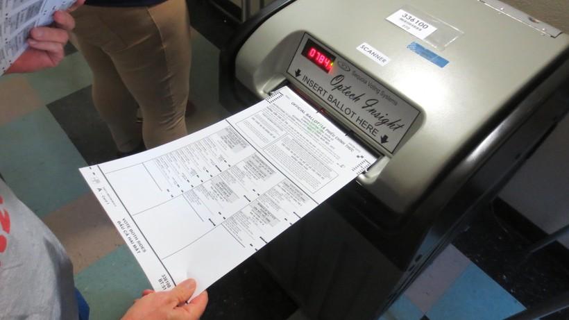 Ballot and voting machine