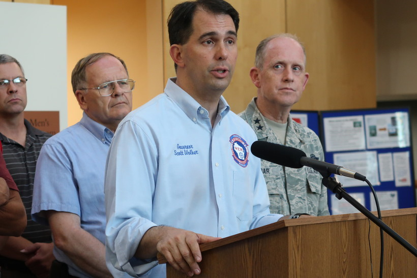 Gov. Scott Walker declared a state of emergency in Ashland, Bayfield, Burnett, Douglas, and Iron counties on Monday evening