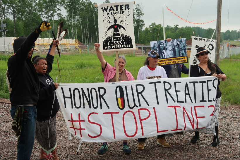 Enbridge Energy Line 3 protesters