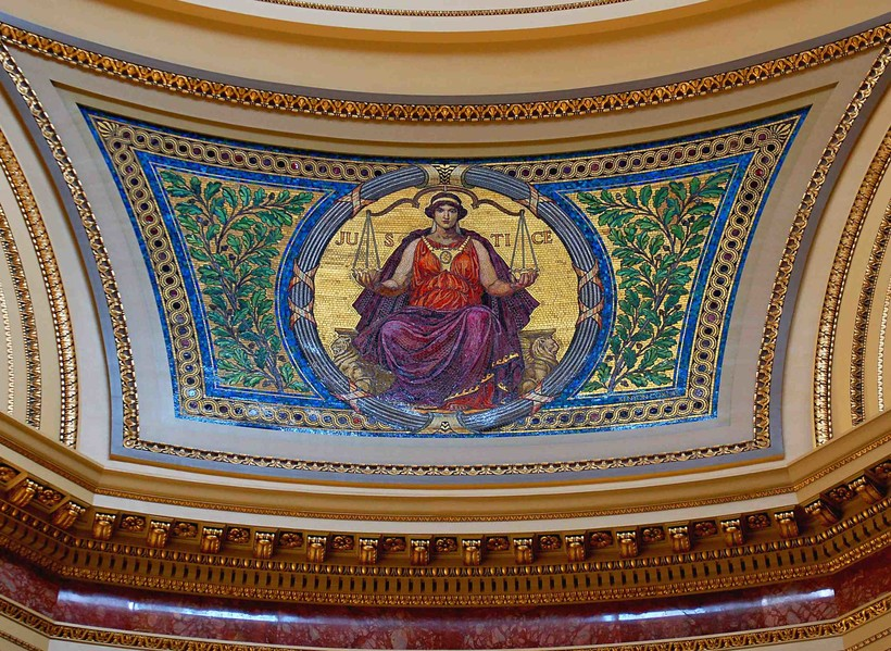 justice, state capitol dome