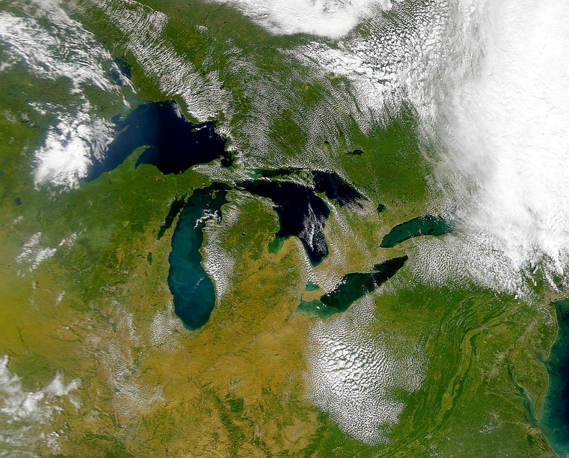 Great Lakes from above