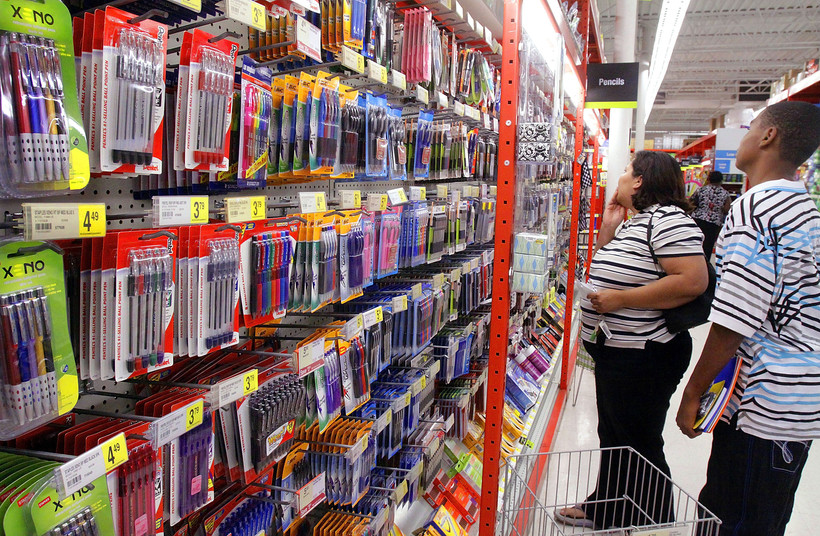 People shopping for school supplies