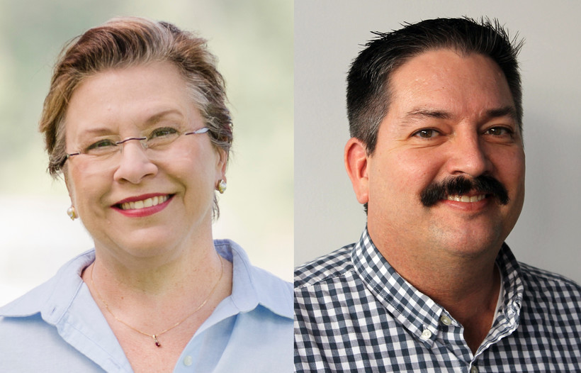 Cathy Myers and Randy Bryce