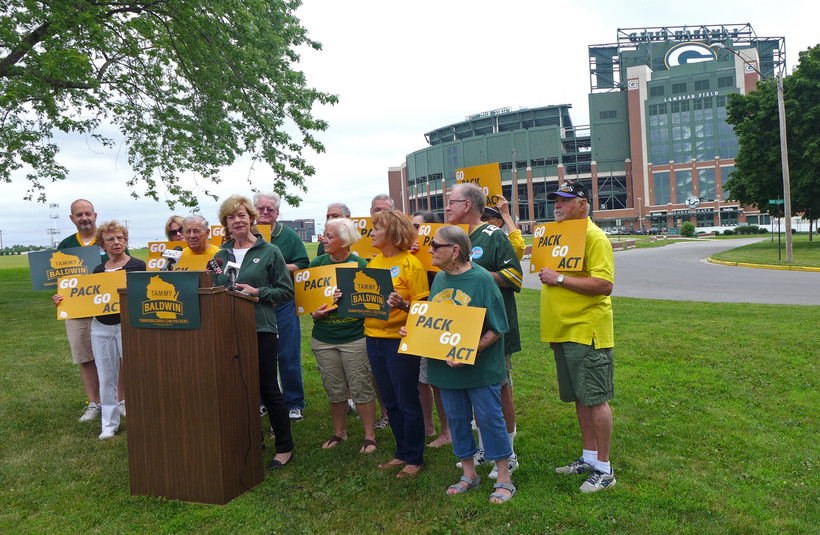 "Sen. Tammy Baldwin introduces her ""Go Pack Go"" bill"