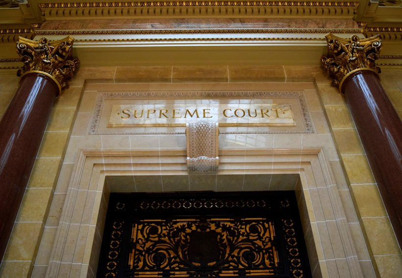 Entrance to the Wisconsin Supreme Court