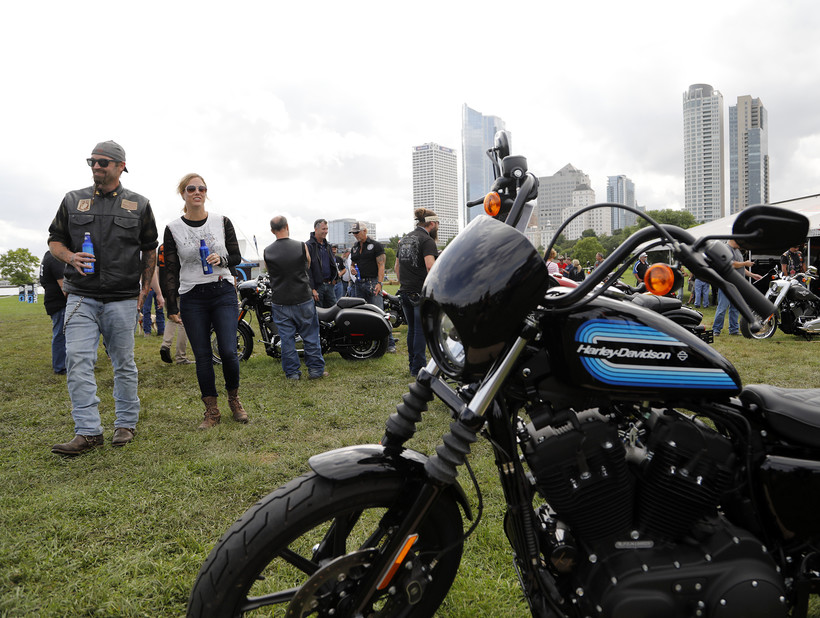 Riders from around the world arrived in Milwaukee to celebrate Harley-Davidson's 115th Anniversary
