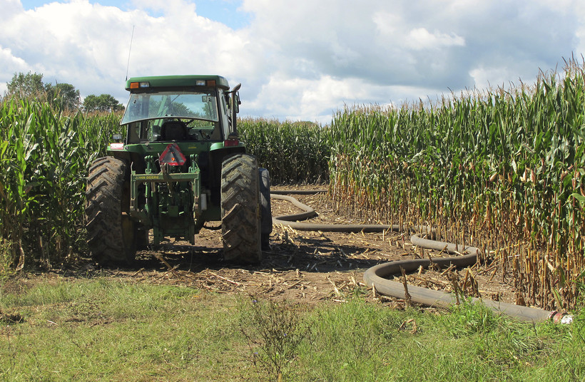 Manure spreading in Kewaunee County