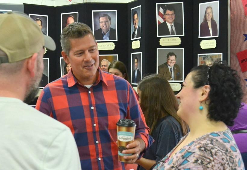 Northern Wisconsin Congressman Sean Duffy speaks with constituents