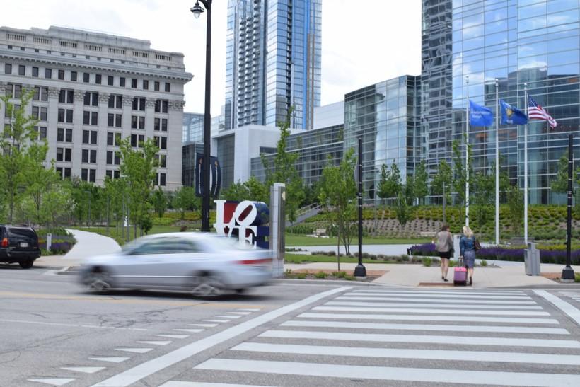downtown Milwaukee, Wisconsin Avenue