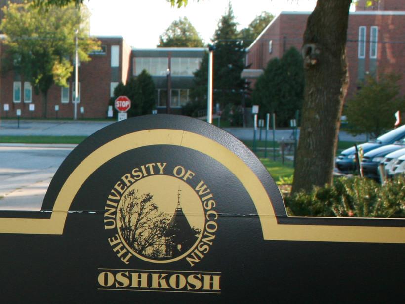 UW-Oshkosh campus sign