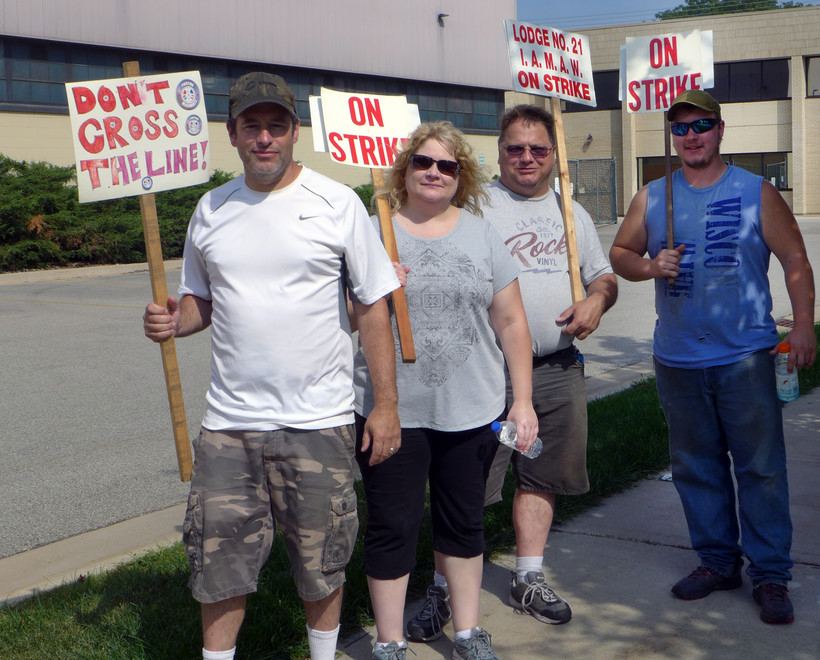 Striking Trane employees