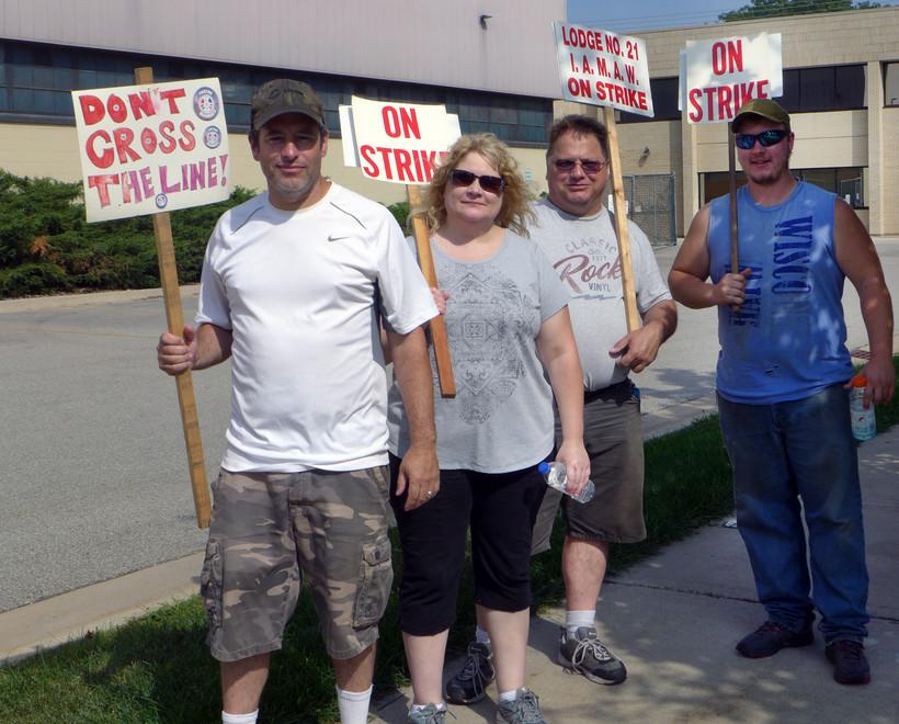 Striking Trane employees